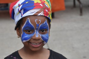 Haitian Flag Day Butterfly girl